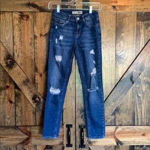 NWOT Topshop hi rise Moto skinny distressed jeans